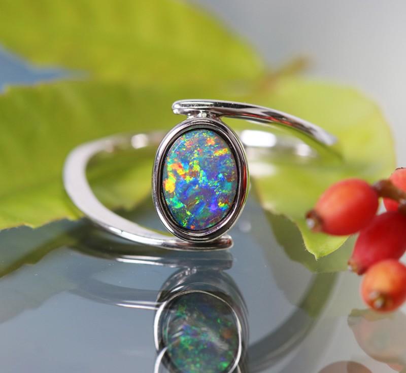 Cute Solid Natural Boulder Opal Rings  SU 584
