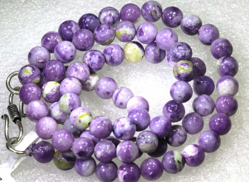 119CTS PURPLE OPAL BEADS - FROM MEXICO