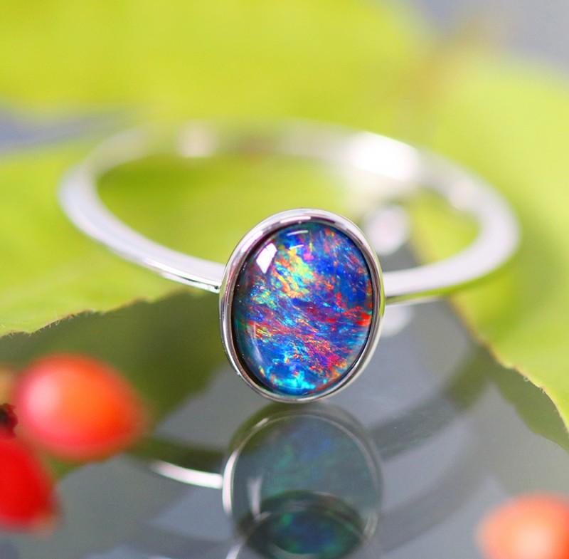 Cute Triplet Opal Rings  SU 590