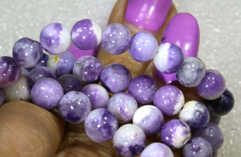 118 CTS PURPLE OPAL BEADS - FROM MEXICO