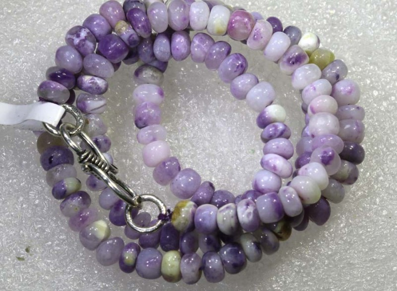 "89 CTS PURPLE OPAL BEADS -  FROM MEXICO ""MORADO""  LO-4665"