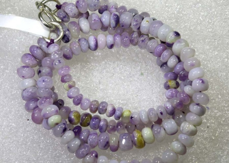 "60 CTS PURPLE OPAL BEADS -FROM  MEXICO "" MORADO "" LO-4670"