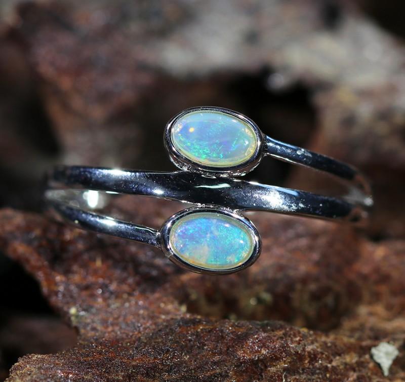 Cute Solid Crystal  Opal Rings  SU 1479