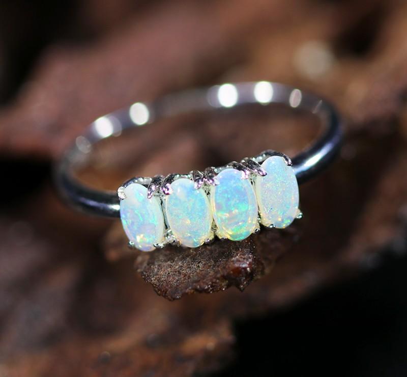 Cute Solid Crystal  Opal Rings  SU 600a