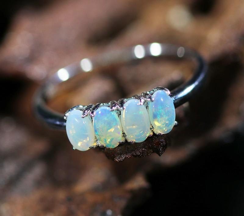 Cute Solid Crystal  Opal Rings  SU 601