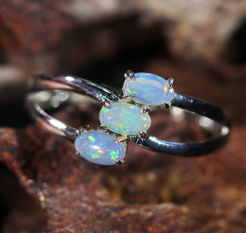 Cute Solid Crystal  Opal Rings  SU 1478