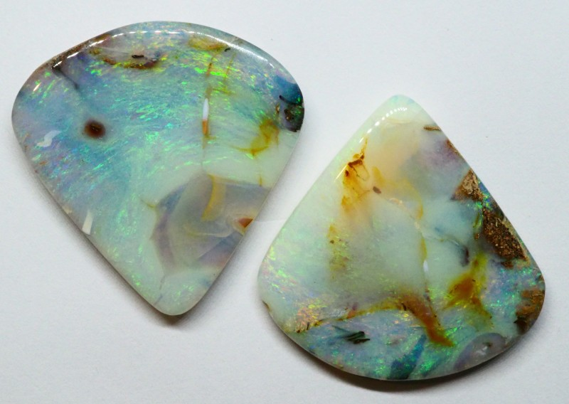 28.95CT VIEW WOOD REPLACEMENT BOULDER OPAL RI374