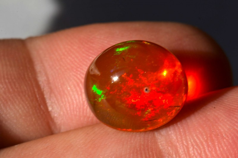 9.5ct MEXICAN FIRE OPAL FIERY CAB