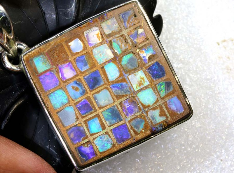 49.80CTS BOULDER OPAL STERLING SILVER PENDANT OF-2187