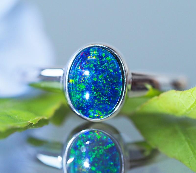 Cute Triplet Opal Rings  SU 611