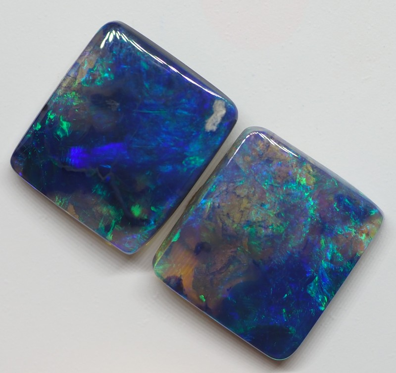 N2 3.75CT SOLID WOOD FOSSIL LIGHTNING RIDGE BLACK OPAL  MI96