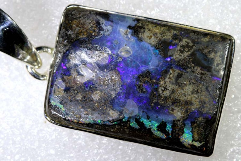 69.10CTS BOULDER OPAL STERLING SILVER PENDANT OF-2209