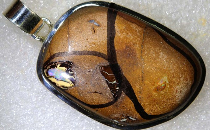 104.85CTS BOULDER OPAL STERLING SILVER PENDANT OF-2193