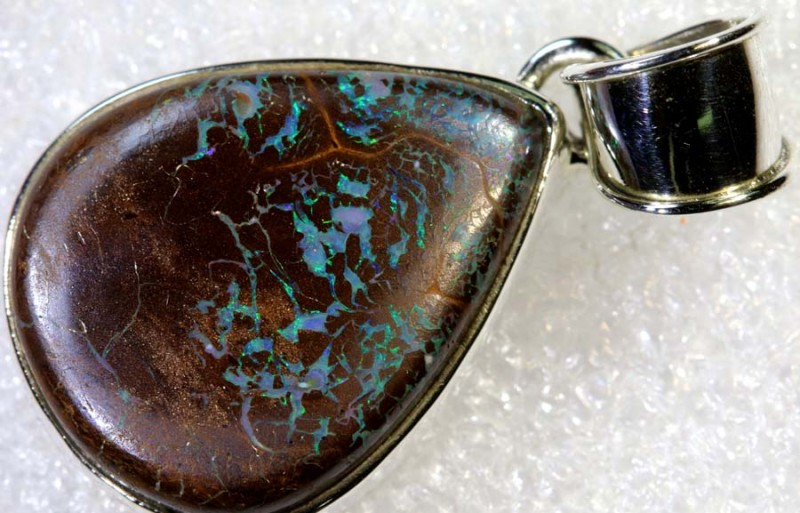 33.70CTS BOULDER OPAL STERLING SILVER PENDANT OF-2235