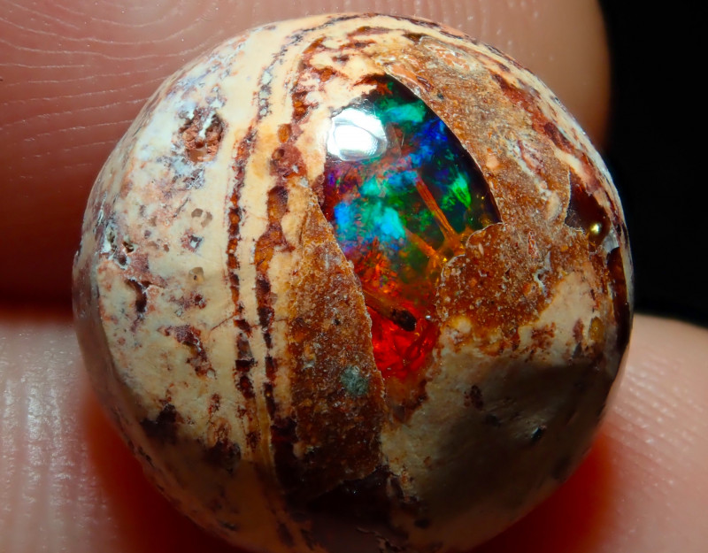 $1 NR Auction 6.62ct Mexican Matrix Cantera Multicoloured Fire Opal