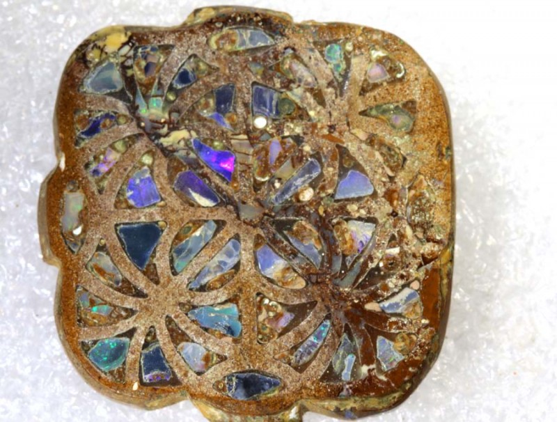 24.7CTS BOULDER OPAL INLAY POLISHED STONE TBO-7992