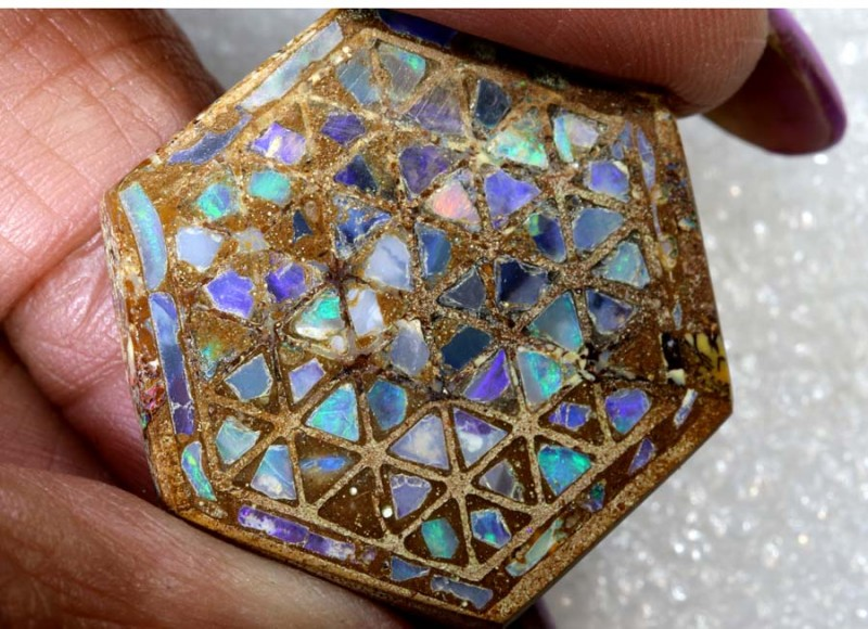 20.30CTS BOULDER OPAL INLAY POLISHED STONE TBO-7995