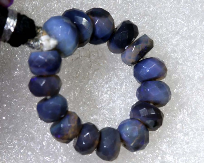 14.75CTS BLACK OPAL BEADS  DRILLED  LO-4696