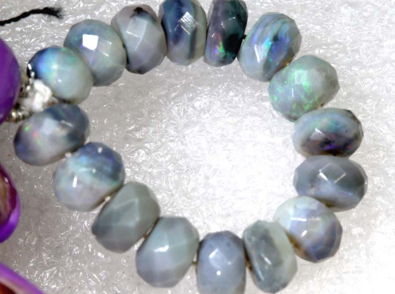 17.9CTS BLACK OPAL BEADS  DRILLED  LO-4708