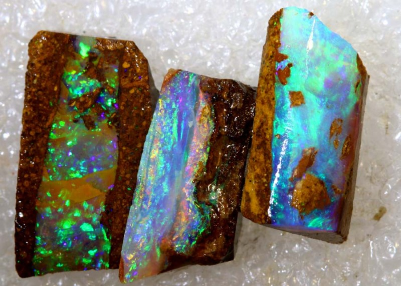 10.20CTS BOULDER OPAL ROUGH PIPE PARCEL PCS DT-7611