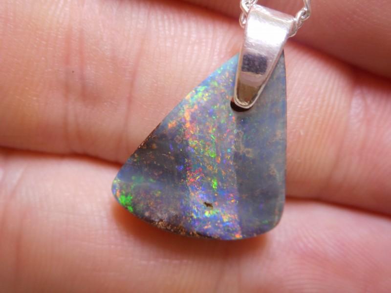 10ct Boulder Opal Polished Stone Pendant