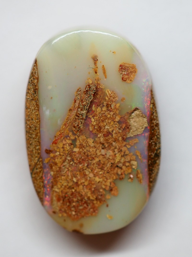 14.60CT VIEW PIPE WOOD FOSSIL BOULDER OPAL RI567