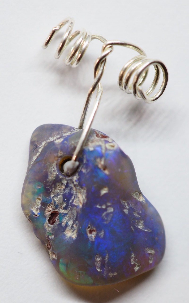4.15CT WIRE WRAP SPECIMEN LIGHTNING RIDGE OPAL PENDANT RI622
