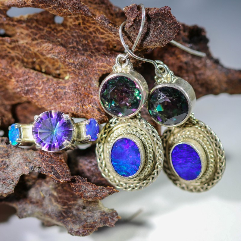 65.45 CTS OPAL SET-RING AND EARRINGS-SILVER -IDEAL GIFT. [SOJ6366]