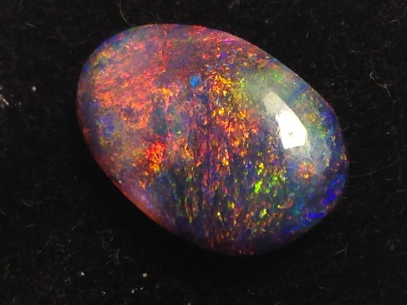 2.5ct solid Red on Black Opal