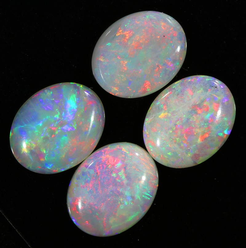 5.70Cts 4pcs Solid fire opal Coober pedy  opal Parcels sets SU1066