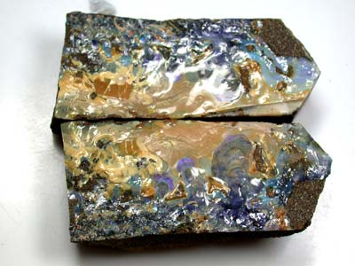 PAIR SPLIT  BOULDER OPAL ROUGH 6.60 0Z OT131