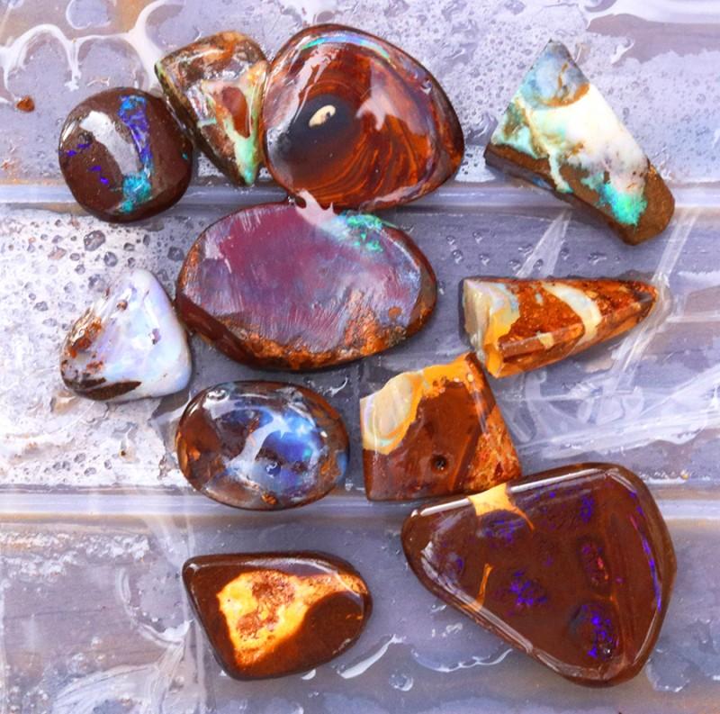 325Cts Parcel 10  Boulder  Opal   Rubs QOM 1407
