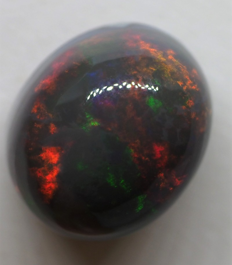11.65CT SOLID HIGH DOME LIGHTNING RIDGE BLACK OPAL  TO412