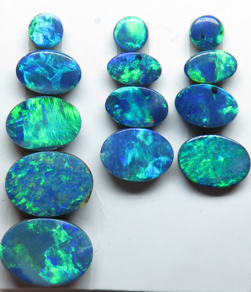 Natural Opal White Flashes of Colour 3mm Round Cabochon Gem Gemstone