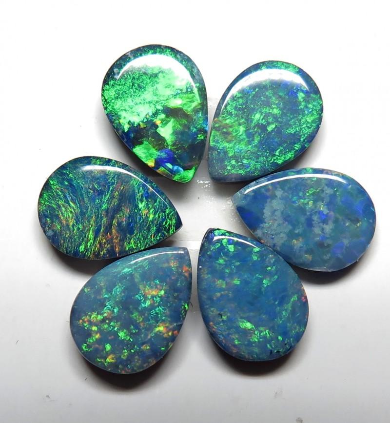 Australian Doublet Opal 6 Stone 7x5mm Pear Shape Parcel