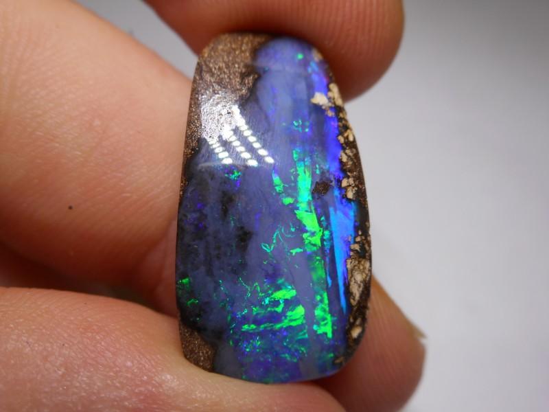 17.25ct Gem Quality Boulder Opal Polished Stone
