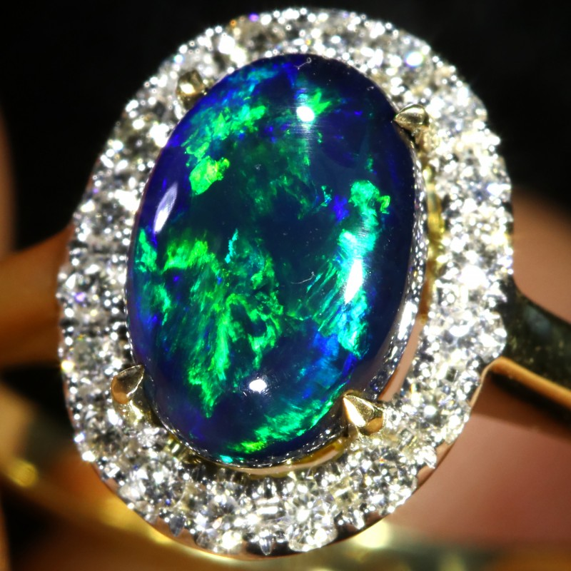 engagement ring jewelry opal rings exhibition black
