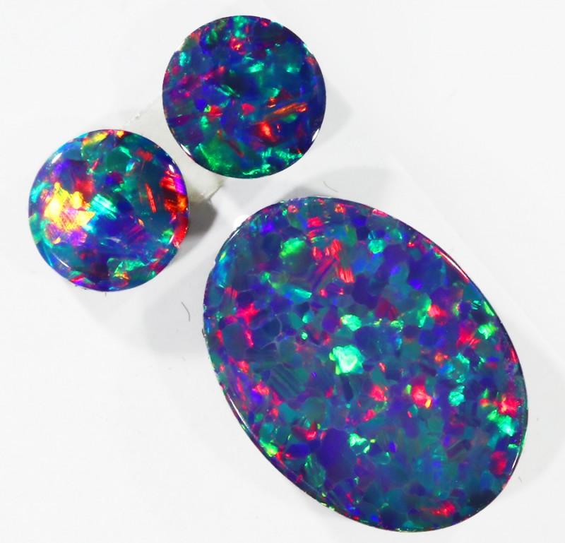 2.10Cts Set three  Gem Opal Doublet Parcel  SU1152