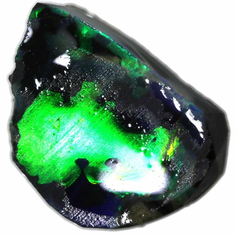 1.30 CTS FRACTURED BLACK OPAL ROUGH-RUB[BR6060]