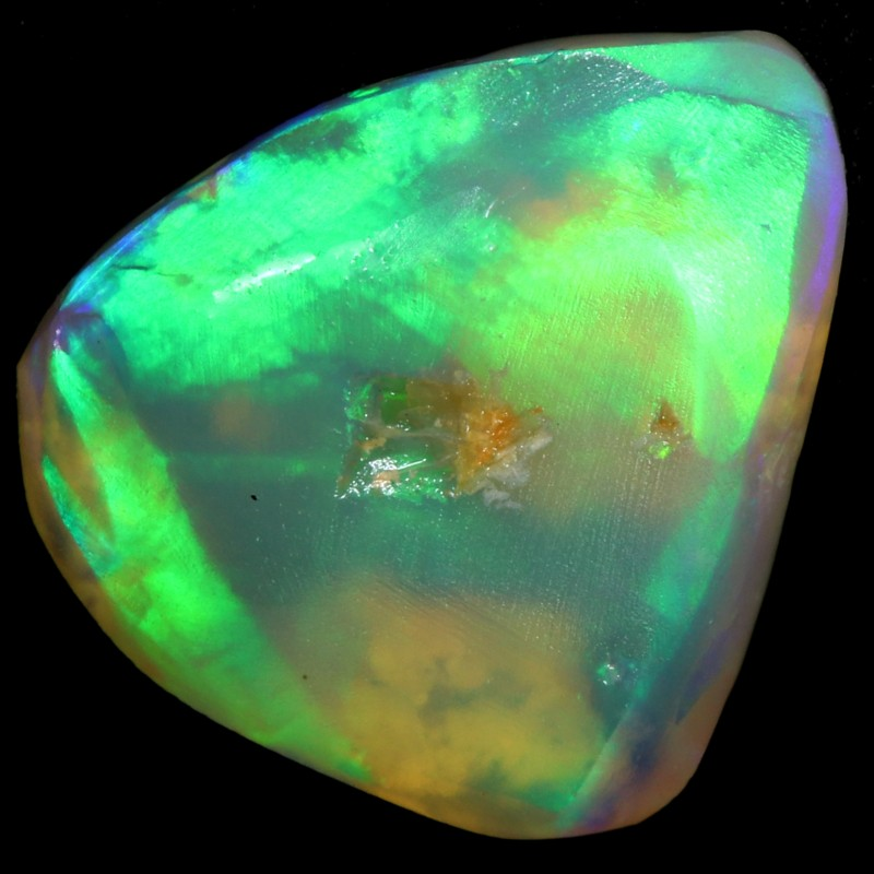 3.70 CTS CRYSTAL OPAL ROUGH CHINESE WRITING FROM LIGHTNING RIDGE [BR6061]