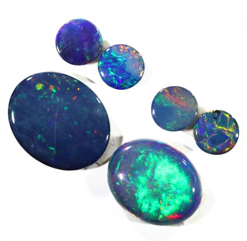 4.83Cts Set6 Gem Opal Doublet Parcel  SU1175