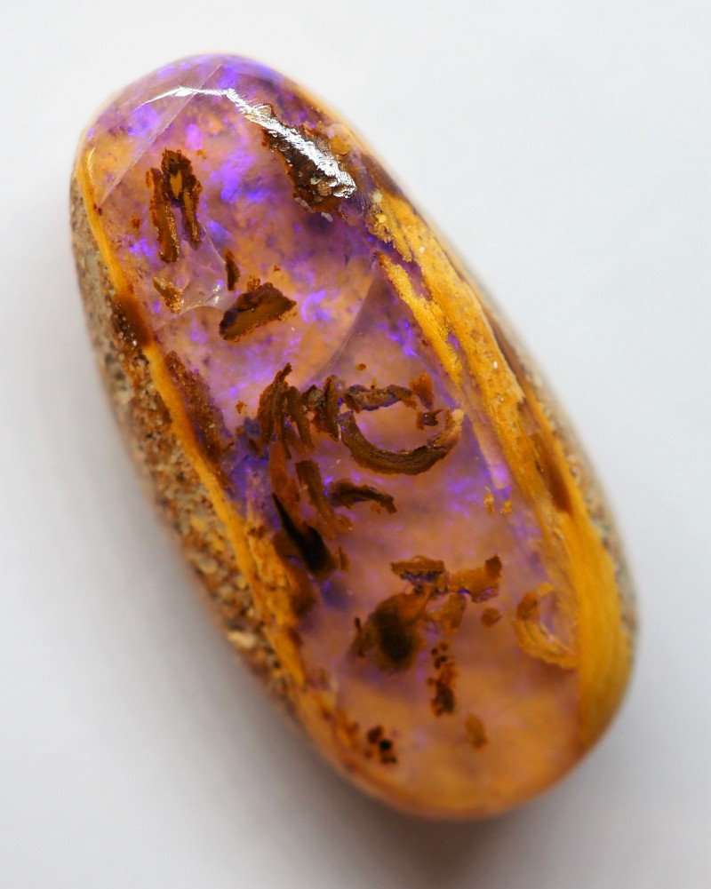 8.00CT SMALL BRIGHT WOOD FOSSIL BOULDER OPAL OI132