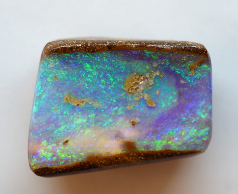 14.20CT VIEW PIPE WOOD REPLACEMENT BOULDER OPAL OI178