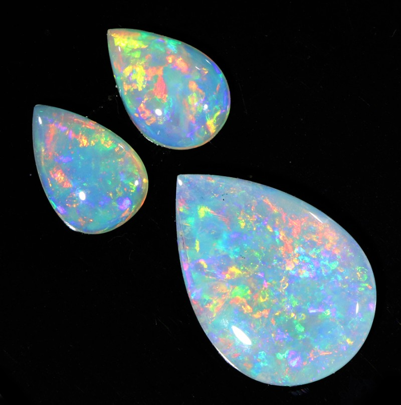 1.31Cts Set  3 matching Fire opals  SU1263