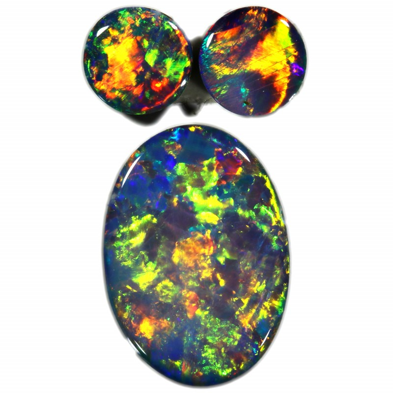 2.10 CTS GEM DOUBLET SET FOR EARRING AND PENDANT [SEDA974-6]SAFE