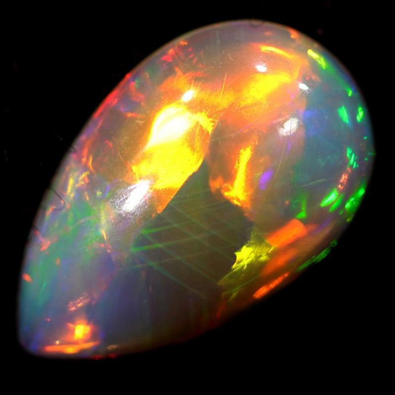 Neon bright Brilliant Ethiopian opal stone BB327