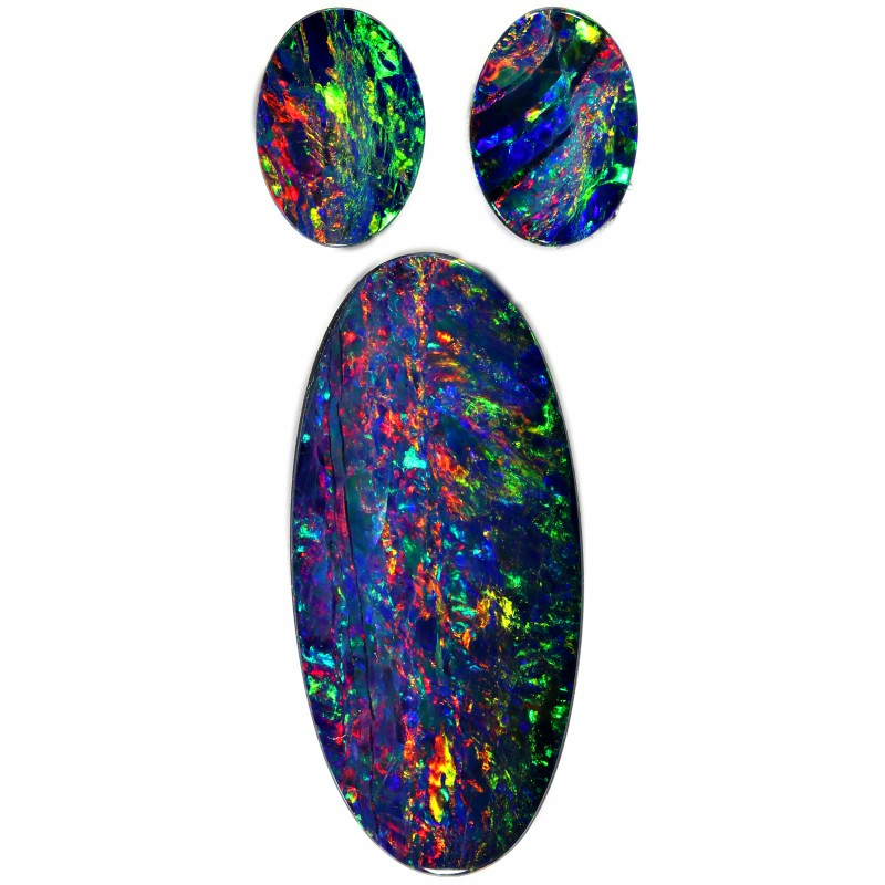 4.38 CTS GEM DOUBLET SET FOR EARRING AND PENDANT [SEDA1015-12]