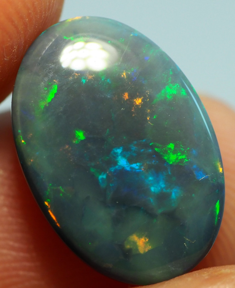 3.50CT LIGHTNING RIDGE BLACK OPAL  SS01642