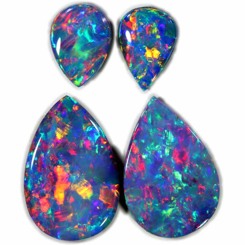 3.74 CTS GEM DOUBLET PAIRS FOR EARRINGS [SEDA1027]SAFE
