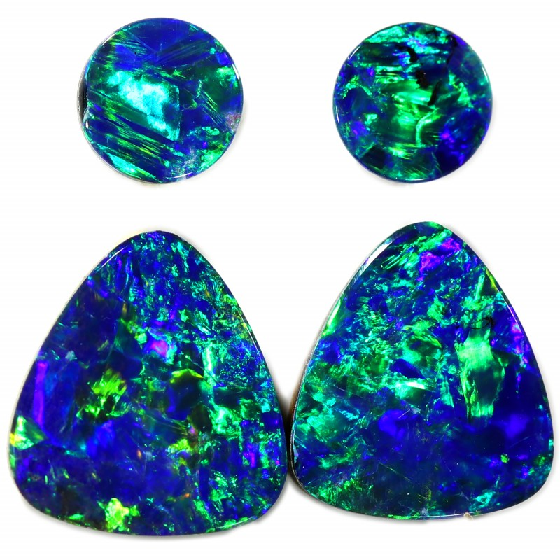 2.02 CTS GEM DOUBLET PAIRs FOR EARRINGS [SEDA1044]SAFE